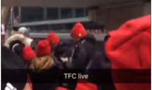 Toronto FC Fan Sneaks Onto Team Bus During MLS Cup Homecoming Parade [Video]
