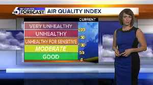 News video: August begins much like July ended: hot and smoky!