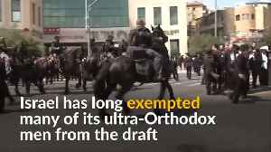 Ultra-Orthodox Jews scuffle with police over military draft [Video]