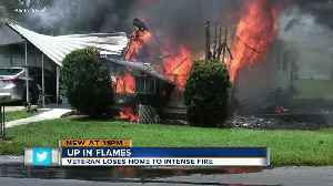 Army veteran escapes burning home as ammunition goes off inside [Video]