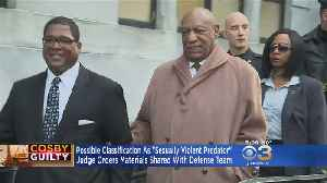 Judge Orders Materials Shared With Cosby Defense Team Over Possible 'Sexually Violent Predator' Classification [Video]