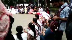 Student protesters block streets of Dhaka after speeding bus kills two teens [Video]