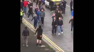 Supporters clash in Glasgow ahead of Rangers game [Video]
