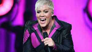 Pink clapped back after a tabloid accused her of canceling a concert to hang out at the beach [Video]