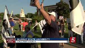 Protest Opposes NRA President's Appearance In KY [Video]