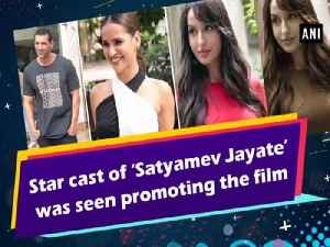Star cast of 'Satyamev Jayate' was seen promoting the film [Video]