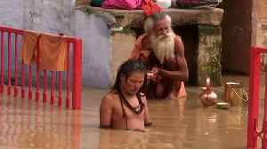 Floodwater sweeps through cities along India's Ganges river [Video]