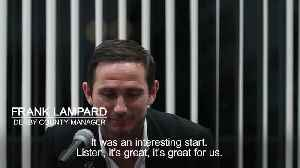 Frank Lampard says first game as Derby manager was 'up there' with career best moments [Video]