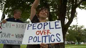 Utah Woman Holds Protest Every Day for `Right vs. Wrong` [Video]