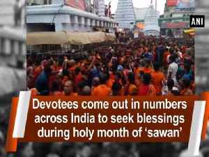 Devotees come out in numbers across India to seek blessings during holy month of 'sawan' [Video]