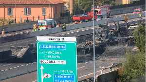 Three Dead In Bologna Highway Gas Tanker Explosion [Video]