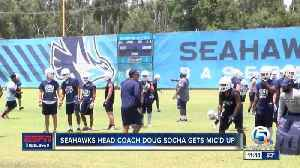 Keiser Seahawks head coach Doug Socha gets mic'd up [Video]
