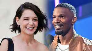 Katie Holmes and Jamie Foxx Squash Break Up Rumors With Rare PDA-Filled Pic [Video]