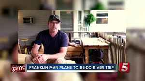 Nashville Man Revisits Mississippi River In Homemade Boat, Bringing Awareness To Mental Health [Video]