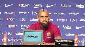 New Barca signing Vidal determined to win Champions League [Video]