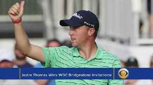 News video: This Week In Golf: Justin Thomas Wins WGC-Bridgestone Invitational