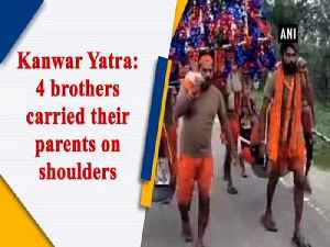 Kanwar Yatra: 4 brothers carried their parents on shoulders [Video]