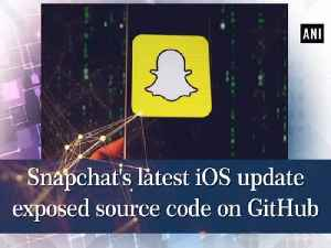 Snapchat's latest iOS update exposed source code on GitHub [Video]
