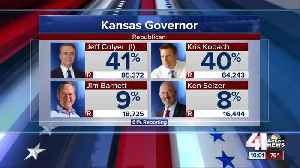 Kansas GOP governor primary locked in tight race [Video]