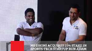 MS Dhoni Acquires 25% Stake In Sports-Tech Startup Run Adam [Video]
