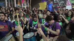 Brazilian pro-choice activists show support for Argentina ahead of historic abortion vote [Video]