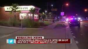 Police officer shot near Waffle House after man fires at Jacksonville Beach patrol car [Video]