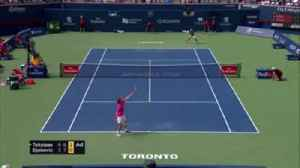Djokovic breaks racket in half [Video]