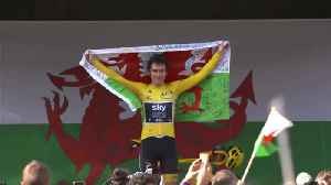 News video: Geraint Thomas gets warm welcome home in Cardiff