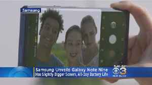 News video: Samsung Unveils Latest Galaxy Note Nine, Smartwatch