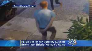 Police Search For Burglary Suspect Who Broke Into Elderly Woman's Home [Video]