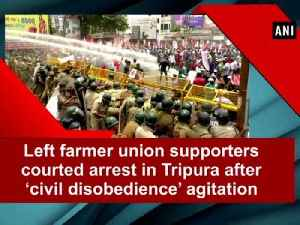 Left farmer union supporters courted arrest in  Tripura after 'civil disobedience' agitation [Video]