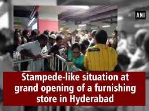 Stampede-like situation at grand opening of a furnishing store in Hyderabad [Video]