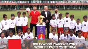 Bollywood Stars Welcome Webb Ellis Cup To Mumbai [Video]