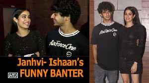 Janhvi- Ishaan's FUNNY BANTER in front of Media | DHADAK Success BASH [Video]