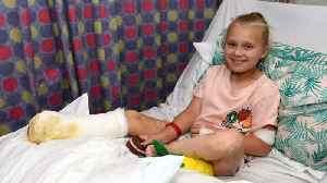 Schoolgirl loses both feet after getting mystery meningitis 'caused by swimming in sea' [Video]