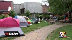 Homeless camp springs up in private park in Over-the-Rhine [Video]