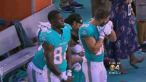 Three Dolphins Players Protest During National Anthem Of First Preseason Game [Video]