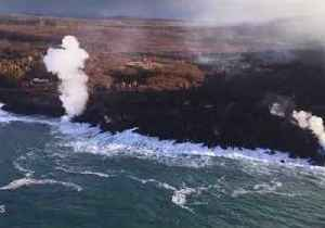 Small Streams of Lava Continue to Flow Into Ocean Off Hawaii [Video]