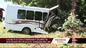 Child, 2 adults seriously hurt in bus crash [Video]
