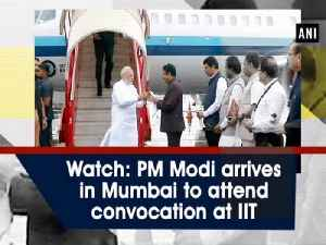 Watch: PM Modi arrives in Mumbai to attend convocation at IIT [Video]