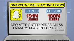 What's behind Snapchat's drop in users? [Video]