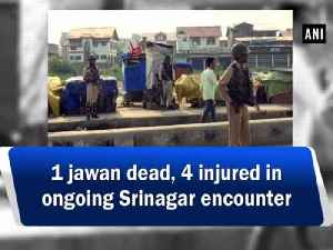 1 jawan dead, 4 injured in ongoing Srinagar encounter [Video]