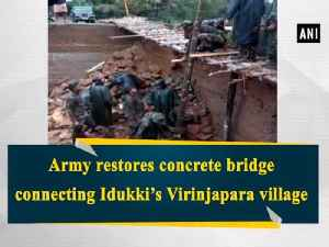 News video: Army restores concrete bridge connecting Idukki's Virinjapara village