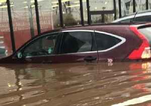 News video: New Jersey Flash Flood Swamps Cars, Stores