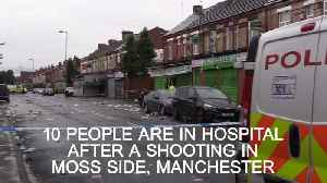 News video: Ten people in hospital after a shooting in Moss Side