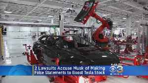 Lawsuits Accuse Elon Musk Falsifying Statements To Boost Tesla Stock [Video]