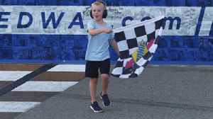 Here's all the celebrating Keelan Harvick got to do with his dad Kevin in Michigan [Video]