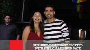 Gurmeet Choudhary Spotted With Wife On A Dinner Date [Video]