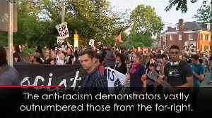 Counter-protests drown out Charlottesville far-right rally [Video]