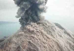 'Lava Bombs the Size of Trucks!' - Aerial Footage Shows Anak Krakatau Eruption [Video]
